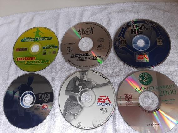 Jogos 6 Pc Fifa Futebol Cd Expert Game Box Window95.98