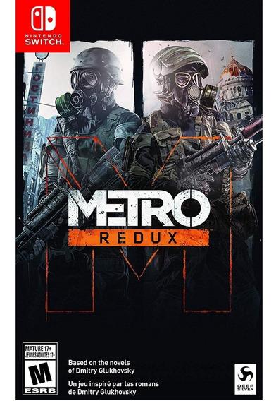 Metro Redux Switch Mídia Física Novo Lacrado Original