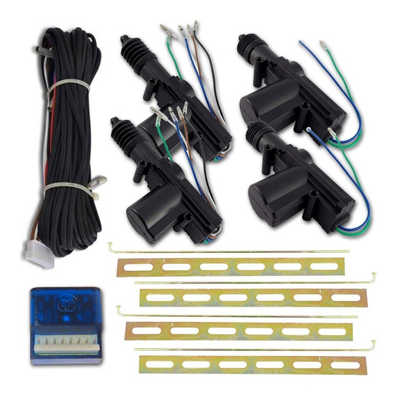 Kit Travas Eletrica Universal 4 Portas Dupla Serventia Tech