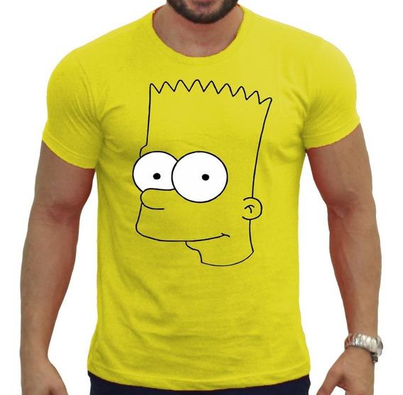Camiseta Com Estampa Personalizada Bart Simpisom