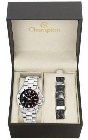 Relógio Champion Masculino Prata E Preto