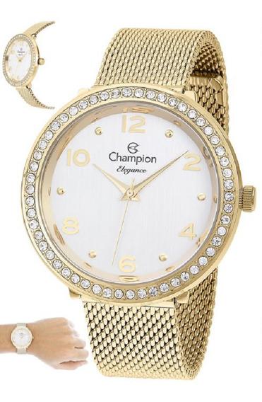 Relógio Champion Feminino Dourado Cn24173h
