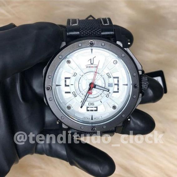 Relógio Weide 1601 Pulseira De Couro Original P/ Presente