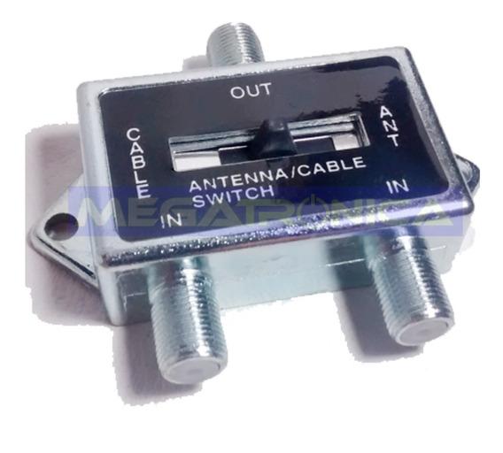 Selector Switch Llave Antena Tda Digital Tv Cable Coaxil