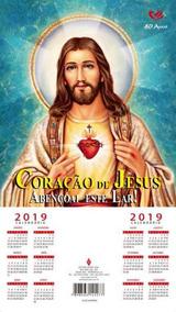 Folhinha Do Sagrado Coraçao De Jesus - 2019