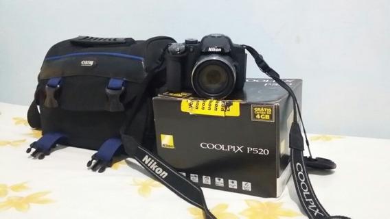 Câmara Fotográfica Nikon P520 Completa E Bolsa Toda Original