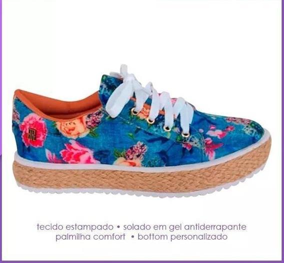 Tênis Casual Floral Antiderrapante Pronta Entrega - Tam. 38
