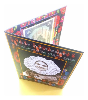 Album Coleccionador Tarjeta Regalo Billete 10 Pesos Tehuana