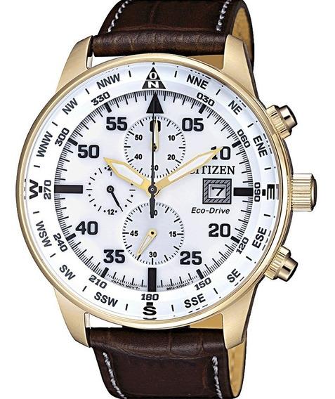Reloj Citizen Hombre Crono Eco Drive Fecha Ca069312a
