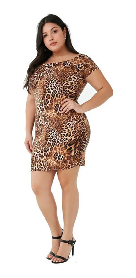 Vestido Mini Animal Print Forever 21 Plus 2x 3x