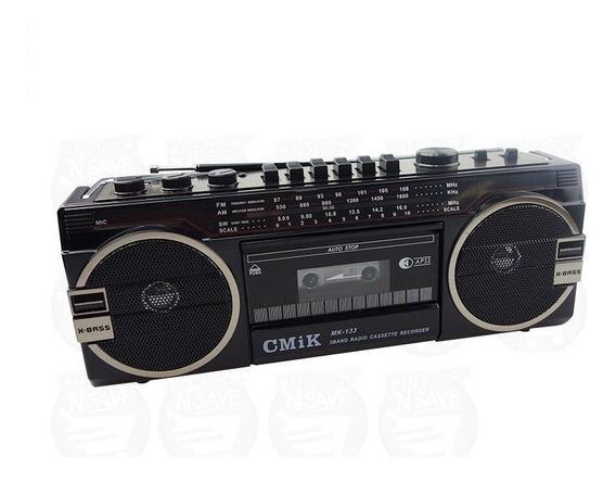 Radio Toca Fitas K7 Am Fm Retro Anos 80 Novo Usb E Cartão