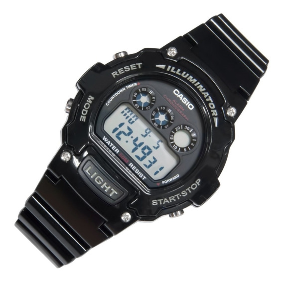 Relógio Casio Masculino Esportivo Original W214hc Preto