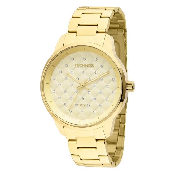 Relógio Feminino Dourado Technos 2035lxu/4d + Nota Fiscal