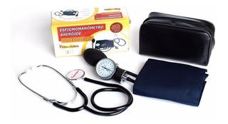 Aparelho De Pressão Premium Esfigmomanômetro + Estetoscópio