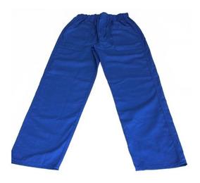 Calças Azuis Em Brim(04 Unid) Para Construção Civil