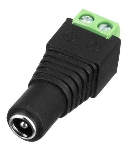 6x Conector P4 Femea Borne Para Cftv Led Não Necessita Solda