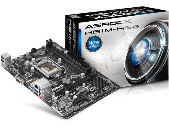 Kit Placa Asrock H81m-hg4 + Core I5 4590 3.30 Ghz Com Cooler