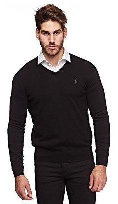 Polo Ralph Lauren Mens Pima Cotton V-neck Sweater (small,