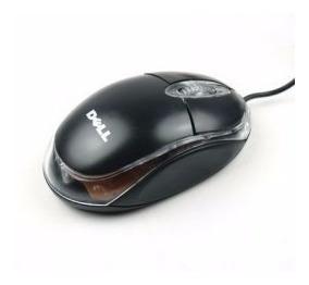 Mouse Dell Óptico Usb Con Luz Led Alambrico Nuevo