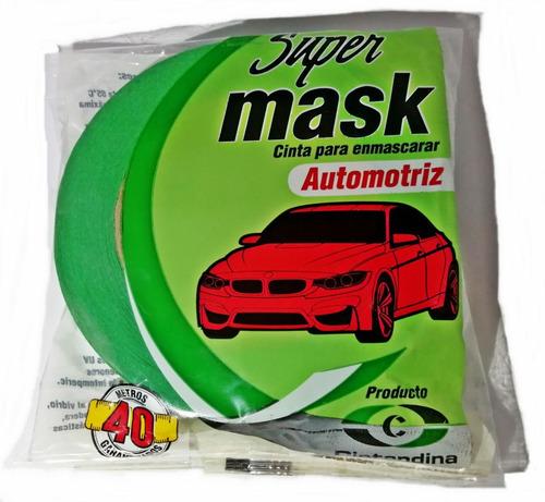 Cinta Enmascarar Supermask Automotriz 24mm X 40mts X 12und