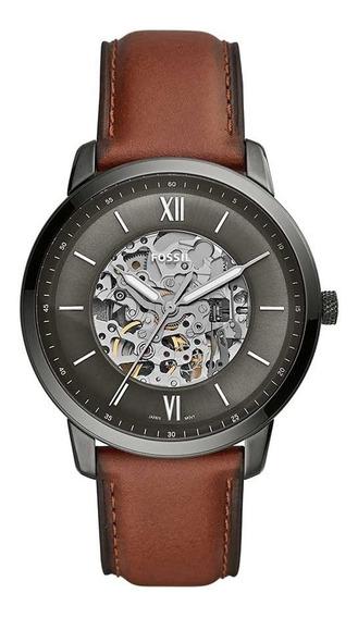 Relógio Fossil Masculino Automatico Me3161/0cn Esqueleto