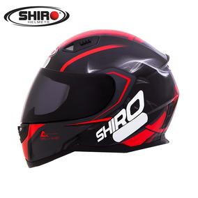 Capacete Shiro Sh881 Motegi Preto/vermelho