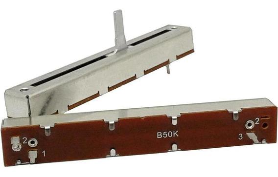 2 Unids Potenciômetro Deslizante Mono B50k 50kb 88mm X 60mm