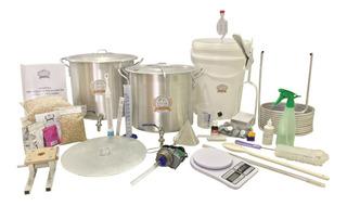 Kit Equipamento Cerveja Artesanal 20l C/ Moedor E Bomba Inox