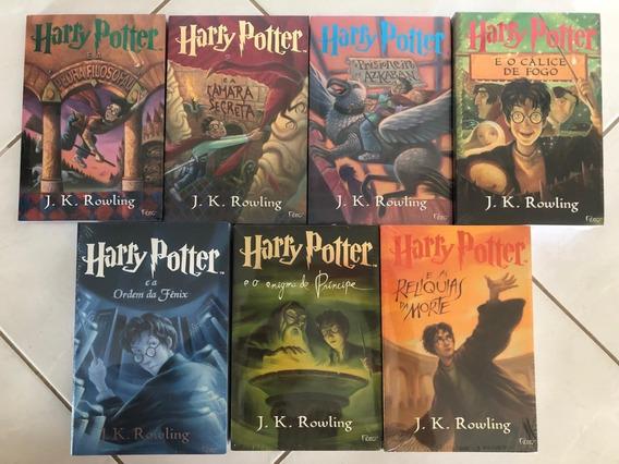 Livro Colecao Harry Potter (7 Livros) Capa Original Com Abas