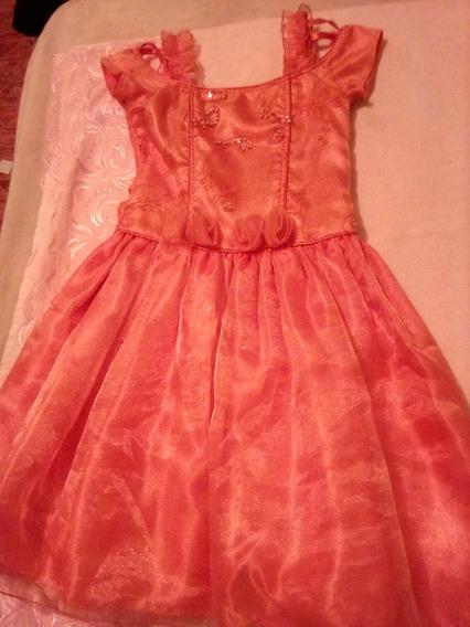 Hermoso Vestido Para Niña. Excelente Estado. Talla 6 Por 8$
