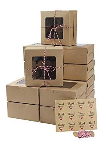 15 Paquetes De Cajas De Panadería Para Magdalenas