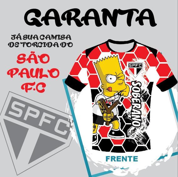 Camisa Torcida São Paulo/ Spfc/ Tricolor/ Nome Pesonalizada