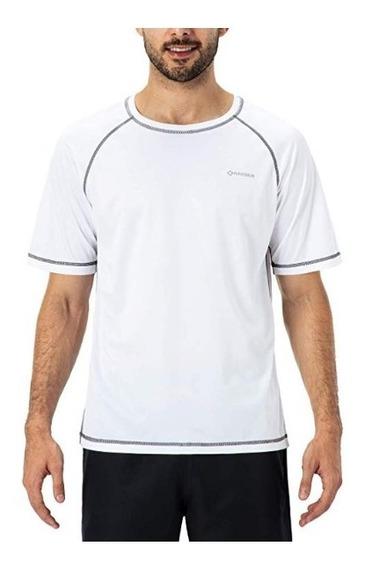 Playera Deportiva Manga Corta Para Hombre Color Blanca