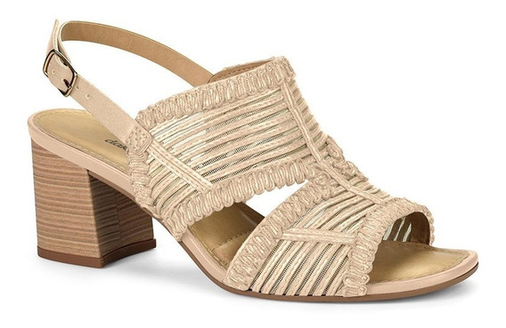 Sandália Dakota Z5142 Caramelo Salto Baixo Verão 2020 Chique