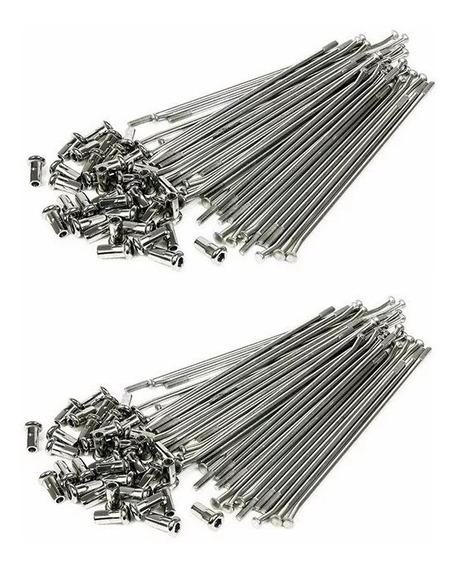Jogo Raios 4mm Cromado Rodas Dianteir Traseir Xtz Lander 250