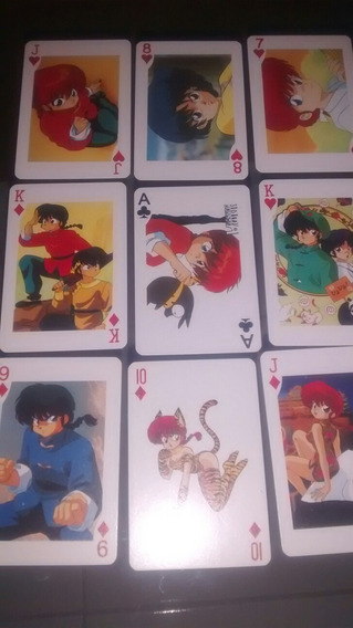 Naipes Poker Tarjetas Cartas Ranma No Pepsicards