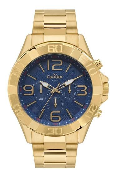 Relógio Condor Masculino Civic Dourado Covd54bd/4a