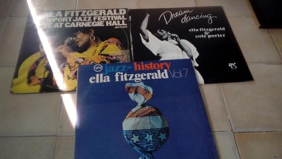 Lote 03 Lps (vinil) Ella Fitzgerald (2 Duplos)