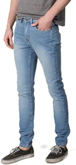 Pantalon Jean Hombre Vulk Pepper Bleach Elastizado Vulk