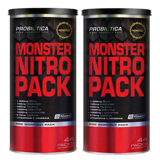 Monster Nitro 44 Packs - Probiótica - Pré Treino - 2 Und
