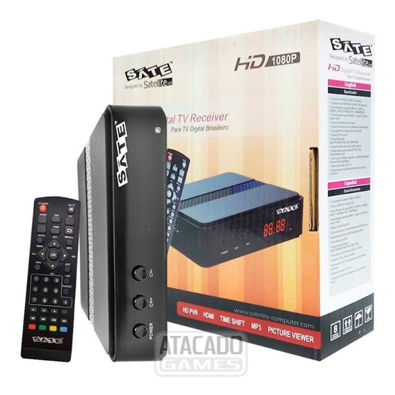 Conversor Digital Satellite Sate Hd 1080p - Novo