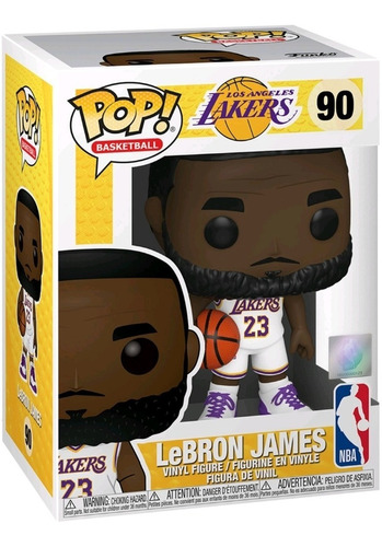 Imagen 1 de 2 de Figura Funko Pop, Lebron James - Lakers - Nba 90