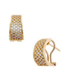 facef521f044 Aretes De Oro Amarillo Con Zirconias-1tmsr00105-ear por Joyería Bizzarro