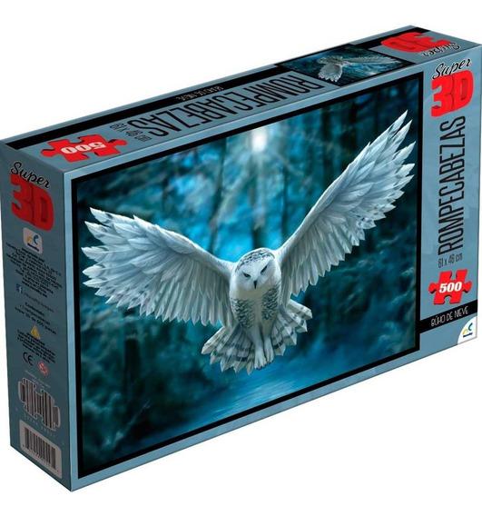 Rompecabezas Lent Super 3d 500 Piezas, Caja Carton