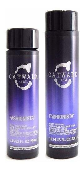 Tigi Catwalk Fashionista Kit Shampoo + Enjuague Pelo Rubio