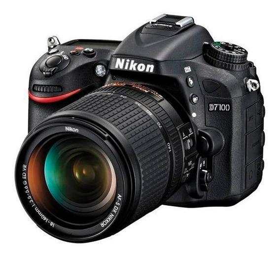 Camera Nikon D-7100 24.1 18x140mm Vr Kit Leia O Anuncio!