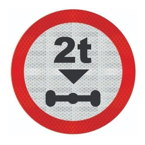 Placa R-17 C/ Adesivo Tipo I Peso Máximo Permitido