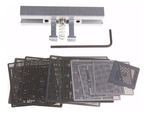 Kit 47 Stencil Bga Games Psp Ps3 Ps4 Xbox 360 Wii + Suporte