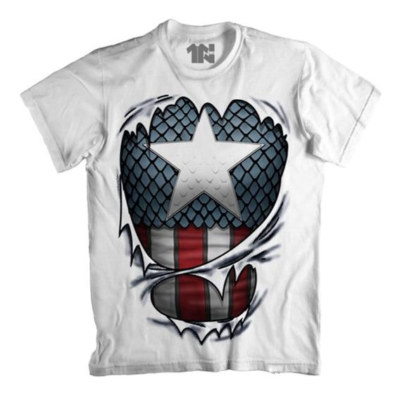 Camiseta Capitão América - Espirito Patriota