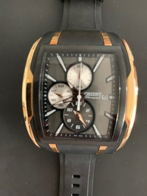 Relógio Orient Masculino Ref: Gtspc001 Dual Time Black